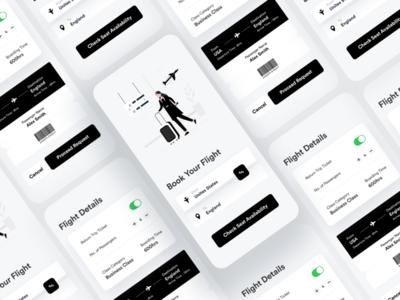 Flight Booking App UI Concept flight booking booking app u flight booking app adobexd sketch figma ux app ui kit ui app ui ux designer ui ux design app ui ux app ui