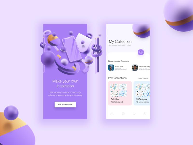 3D App UI Design Concept modern 3d app ui concept 3d shapes 3d sketch figma ux app ui kit ui app ui ux designer ui ux design app ui ux app ui