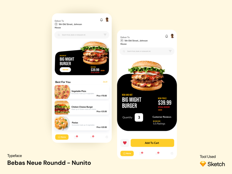 Burger Shop App UI Design Concept food ordering food burgershop sketch figma ux app ui kit ui app ui ux designer ui ux design app ui ux app ui