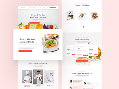 Food & Restaurant Website food web design food website design webdesign website design ui ux designer ui ux design