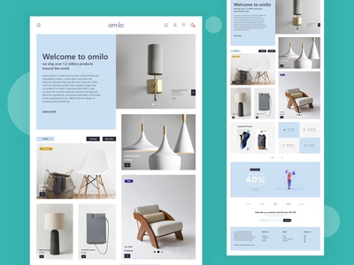 Omilo web template design web design web ui design uidesign webdesign