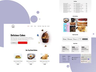 Restaurant web template design website web design web ui design webdesign