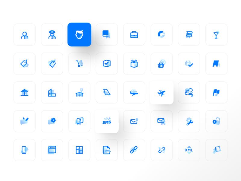 DevExpress icon set set app skuratovteam pictogram set flat icons icons mobile illustration product design