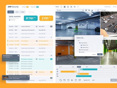 CCTV Design web design ux ui system statistics skuratovteam service security interface saas report design product monitoring desktop light design cctv camera branding app