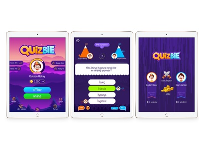 Quiz bie game ui psd illustration icon flat appstore googleplay aplication android ios quiz ui  ux ux ui gui game art game asset game app game animation game ui
