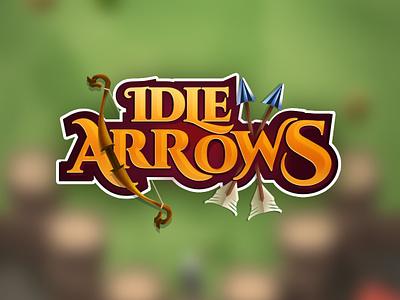 Idle Arrows Logo graphic android icon minimal animation app branding art vector ios flat illustration typography logodesign logotype ui gameui gamelogo game logo