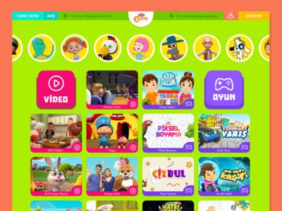 Trt Çocuk Web Site Ui-Ux
