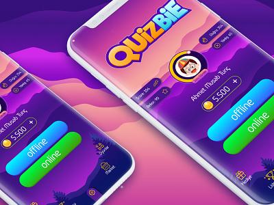 Quizbie Game Ui Ux uxdesign uidesign games appstore googleplay android ios quiz app quiz game design game art gameui gui ui game