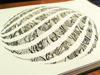 Spiralball illustration - Black Ink