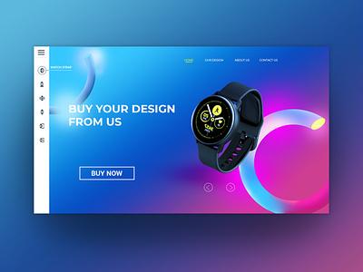 Website Watch Design web graphic design website illustrator logo design icon vector branding illustration