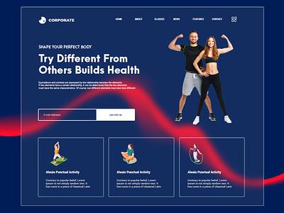 Workout Website design web website branding illustration illustrator logo graphic design