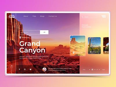 Arizona Travel icon vector graphic design branding website web logo illustrator design