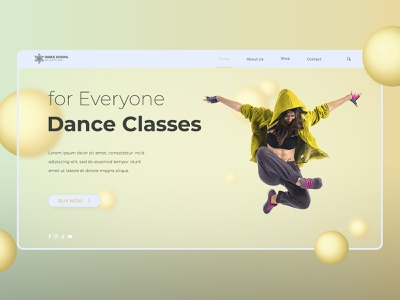 Dance School app ux ui illustration graphic design branding logo website web design