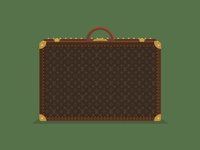 Flat Louis Vuitton Alzer Suitcase