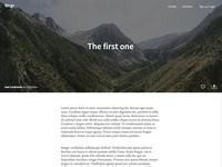 Fictive Blog Template