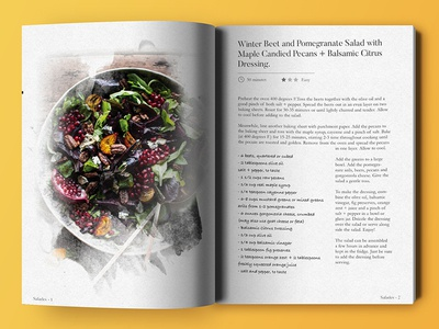 Quick CookBook layout by Axel Cardinaels - Dribbble
