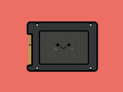 Upgraded to SSD drive disk hard macbook hdd ssd cute flat illustration
