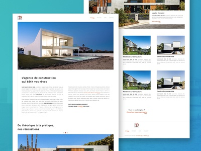 JD Construction LIVE code live webdesign web projet minimal construction architecture