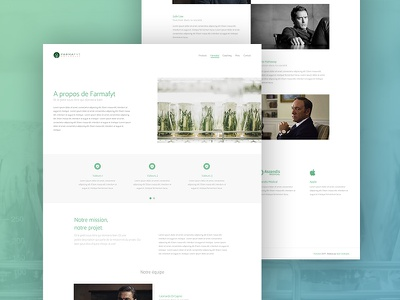 Farmafyt - About page about medecine project projet web minimal medical