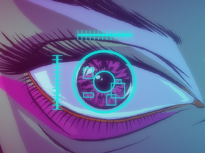 All About The Waiting Render  0 00 15 29 music video high-tech eye illustration all about waiting