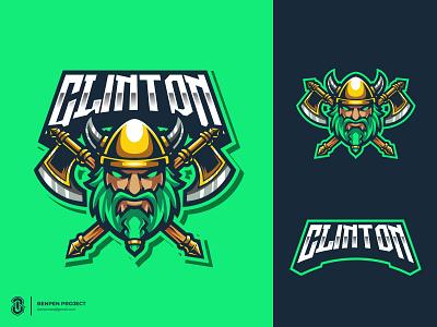 Viking Mascot Logo twitchlogo vikinglogo logo illustration mascot logos design sports logo gaming esports bold logo