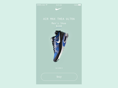 Nike Product Catalog Assets - Ultra design ui