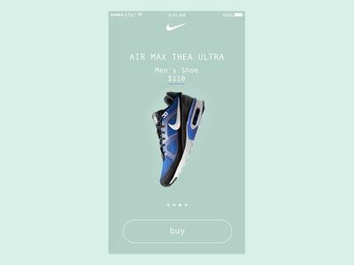 Nike Product Catalog Assets - Ultra design ui