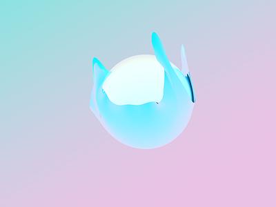 Soft Comet texture art 3d pastel