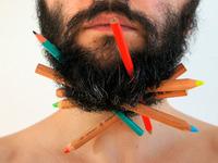 Beard Pencil Holder