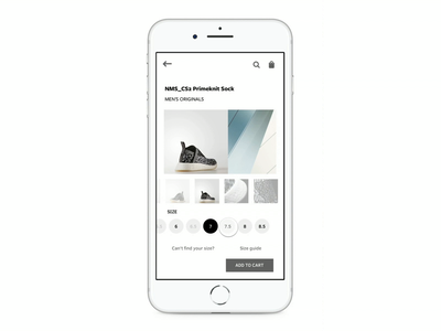 Adidas CS2 Primeknit Sock Experience ecommerce adidas uiux ux branding visual design ui interaction design motion design