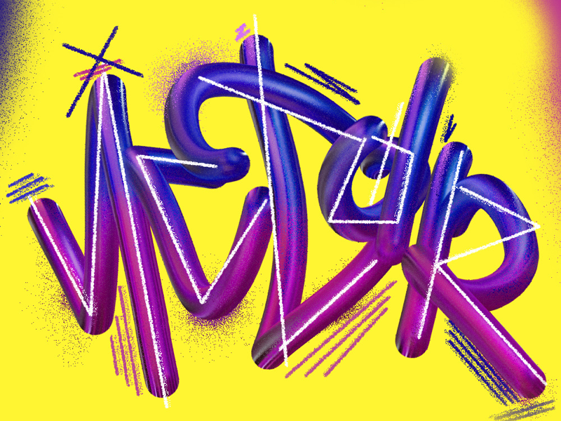 V I C T O R color brushes photoshop adobe wacom typography type lettering art design