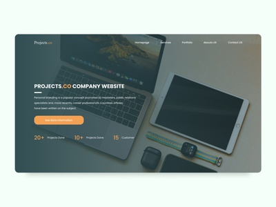 Personal Company Landing Page figma landing page uiux ux design uidesign ui