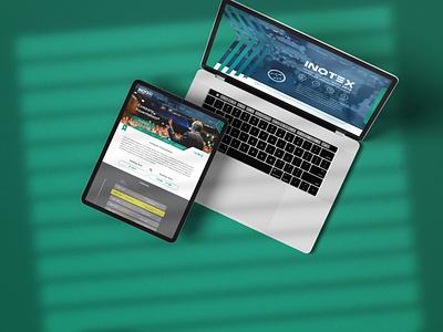 Inotex Website 2018 website web design ux design ux ui  ux ui design ui illustration illustrator design