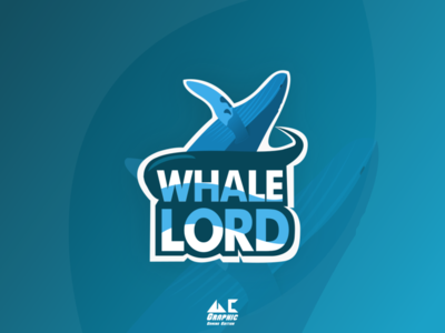 Gaming Logo Whale Lord logo design illustration inkscape