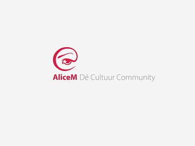 AliceM Dé Cultuur Community creative design communication wonder sans-serif logo design logo modern logo branding