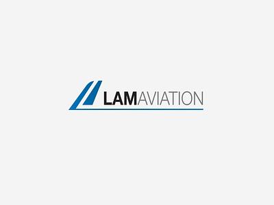 Lam Aviation creative design branding business aviation modern sans-serif logo design logo