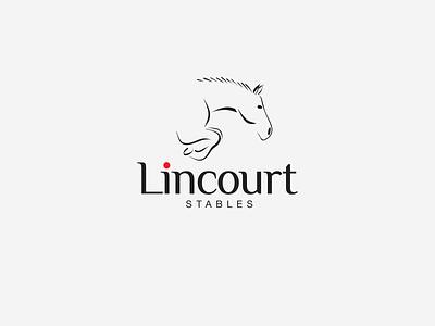 Lincourt Stables rider horse sport stables hand drawn creative design branding logo design logo