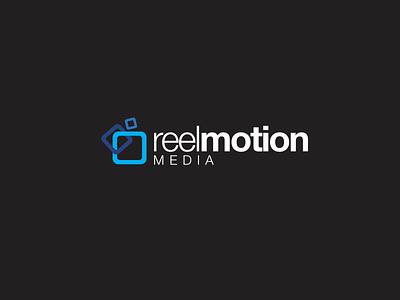 Reel Motion Media design creative modern sans-serif creative design branding video production media logo design logo