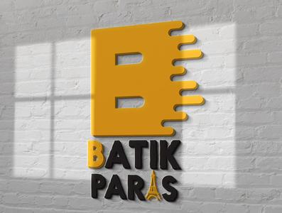BATIK PARIS typography logo vector illustrator branding illustration design