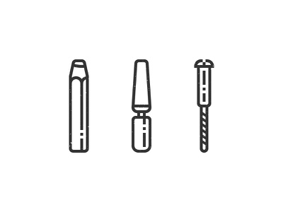 Woodworking woodworking icon pictograms illustration screw pencil