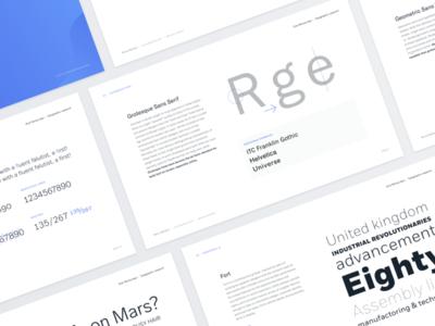 Typography presentation