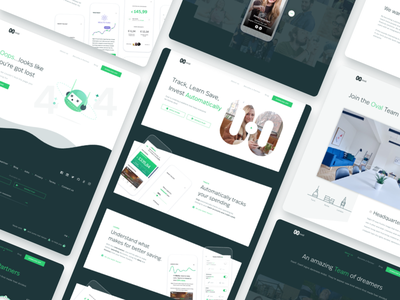 Oval Money website web homepage clean interface layout ux app money ui website