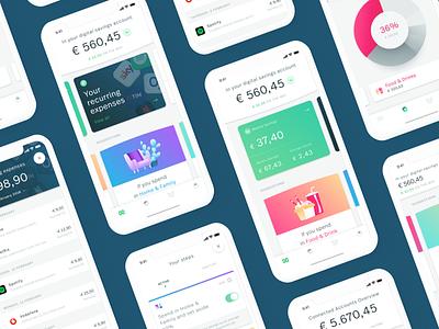 Oval Money - App saving app design iphonex bank fintech illustration ui app