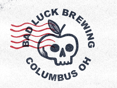 Bad Luck Brewing micro brewing columbus apple skull fall stamp cider alcohol branding logo beer
