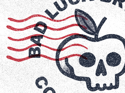 Bad Luck Brewing detail shot home brew stamp packaging branding logo apple cider micro brew alcohol beer skull brewing