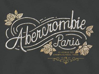 Abercrombie Paris  apperal fashion rose france paris type logo shirt fitch abercrombie
