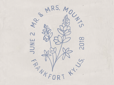 Wedding Logo stationary wedding logo  folk floral kentucky stamp flower wedding invites logo wedding