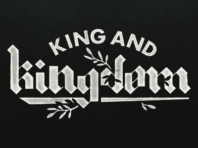 King And Kingdom new plant gothic church bible screen printed screen print distressed peace olive logo typo logo inspiration typography branding