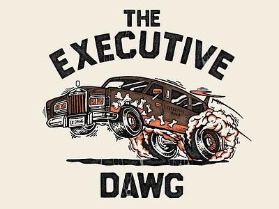 The Executive 80s designspiration ohio screenprint shirt design hotrod cleveland browns car illustration hot rod vintage