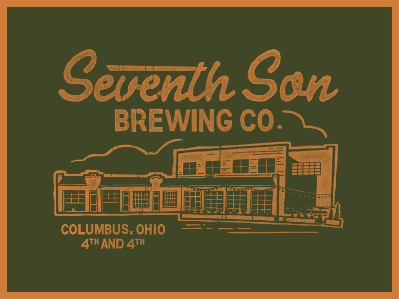 Seventh Son Brewery screen print inspiration color type ohio branding vintage beer columbus shirt brewery seventhson